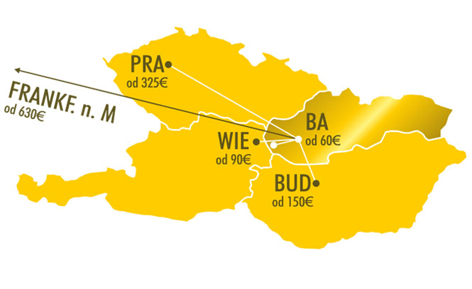 Map of airport transfers